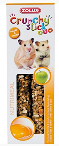 Zolux Crunchy Stick Friandise pour Hamster Pomme/Oeuf...