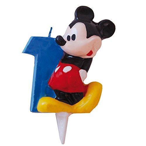 Mickey Maus –, Kerze, Zahl 1Design (verbetena 014000391) (Mickey Geburtstag Zahl)