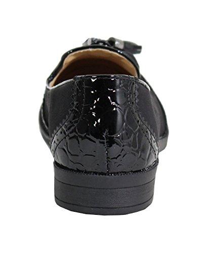 By Shoes, Damen Schnürhalbschuhe Schwarz