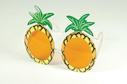 Imagen de oxforder piña gafas para el sol hawaiano adultos disfraz fiesta especificaciones accesorio