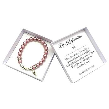 Konfirmation Geschenk Mädchen, Armband mit Namen