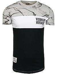 BOLF – T-shirt – Manches courtes – Slim fit – Party – Imprimé – Été – Motif – Homme [3C3]