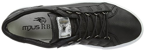 Mjus 360108-0101, Sneakers basses homme Schwarz (Nero/Nero/Nero/Argento)