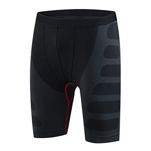 Zhhlaixing Buona qualità Mens Pro Compression Base Layer Thermal Under Shorts Black&Red