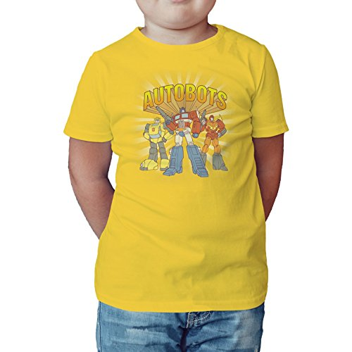 Transformers Autobot Heroes Sunburst Official Kid's T-Shirt (Yellow) (1-2) (Transformers T-shirts 2)