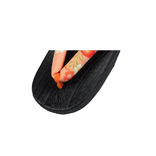 Nuoqi Donna Tradizionale giapponese zoccoli scarpe sandali Geta Accessori cosplay SEM65A