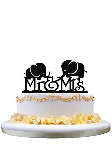 Sr. y señora Cake Topper de la torta del monograma con 2...