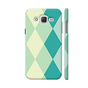 Colorpur Soft Green Tile Colors Pattern Printed Mobile Back Cover For Samsung Galaxy J2 (Matte Multicolor)