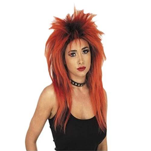 fghfhfgjdfj Punk Rocker Perücke Kostüm Perücken Funky Disco Damen Kostüm Haar für Hen Nights Fancy Dress Parties - Punk Rocker Fancy Dress Kostüm