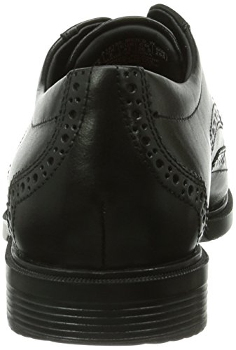 Rockport Cs Wing Tip, Chaussures de ville homme Noir (Black Lea)