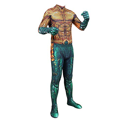 CHXY Aquaman Overall Kind Erwachsener Verkleidung Kostüm Cosplay Strumpfhosen Halloween Mottoparty Onesies Karneval Dress,Kids-S