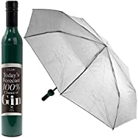 Compact Folding Umbrella 100% Chance of Gin Foldable Brolly Secret Santa Gift