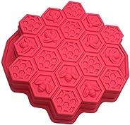 Creative Honeycomb Shape 19 Cells Cake Mold DIY Cupcake Mould for Ice Jelly Chocolate Handmade Soap (Random Co