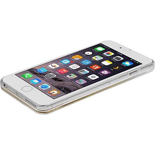 PhoneNatic Case für Apple iPhone 6s / 6 Hülle grün Stardust Hard-case für iPhone 6s / 6 + 2 Schutzfolien Gold