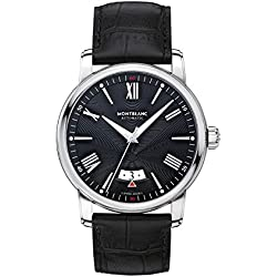 Montblanc Men's 4810 43mm Black Alligator Leather Band Steel Case Automatic Analog Watch 115122
