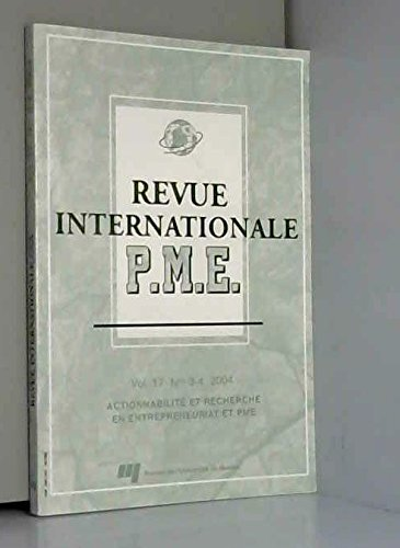 Revue Internationale Pme V 17 N 03 04 par Collectif