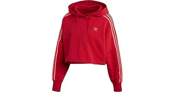 Rouge Ej9345 A Adidas Cropped Capuche Sweat Hood Femme v8Nwm0nO