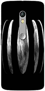 Snoogg Moon Phase Hard Back Case Cover Shield For Motorola X Play