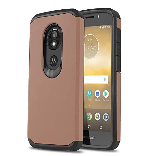 Schutzhülle für [Motorola Moto E5 GO (Verizon)], [DuoTEK Serie] Stoßfeste Hybrid-Schutzhülle [Defender[Stoßdämpfung] für Motorola Moto E5 Go/Play/Cruise (Verizon Wireless Prepaid-Telefon), Rose Gold - Prepaid-verizon-handys