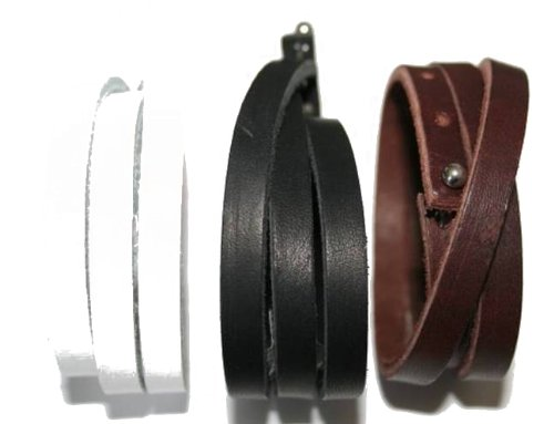 Cored Lederarmband wrap 60 cm braun g13-braun