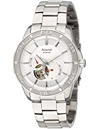 Accurist Men's Automatic Watch with Silver Dial Analogue Display and Silver Stainless Steel Bracelet Mb912S