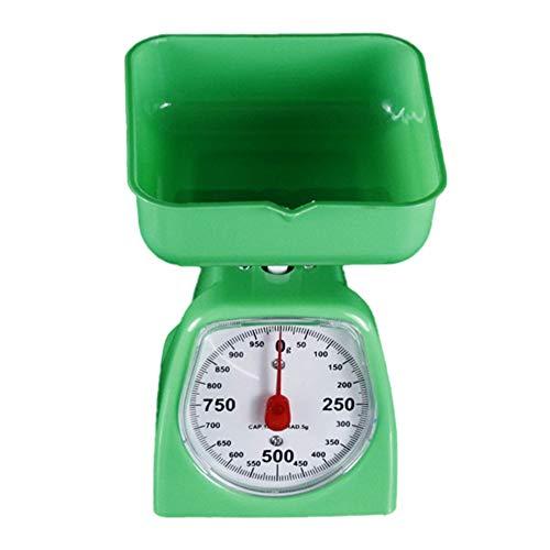 Bilance da cucina con una grande ciotola retro design minimalista verde 1 kg pesatura alimentare huyp