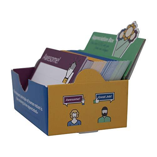 Wertschätzungsbox - Wertschätzung und Motivation im Team steigern mit 200 Kudos Karten DIN A7