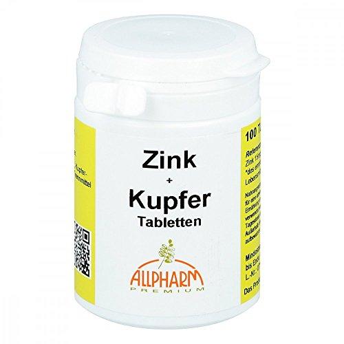 Allpharm Zink + Kupfer, 100 St. Tabletten