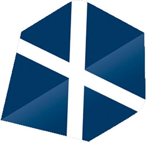 NEU Unicorn St.Andrew Maestro Range Ultra Schottland Flagge Form Dart Flights DUTZEND - Mehrfarbig, Plus -