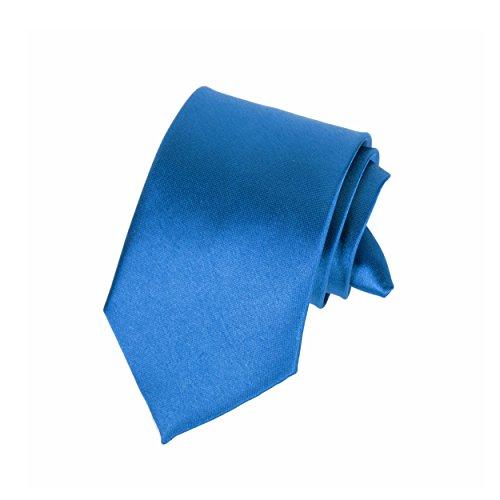 """Robelli Homme Classique À Clipser 3"""" Large Satin Sécurité Cravate Bleu Roi"""