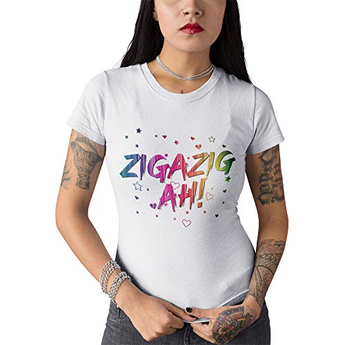 ZigaZag Ah T-Shirt - Spice Up Your Life T-Shirt - Konzertmusik 2019 Tour-T-Shirt für Damen und Mädchen Gr. XX-Large, weiß