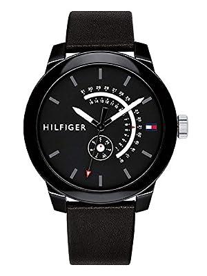 Tommy Hilfiger Reloj Analógico para Hombre de Cuarzo con Correa en Cuero 1791479
