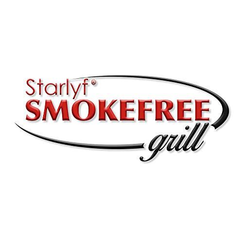 BEST DIRECT Starlyf Smokefree Grill Gitter Nicht Rauchen Gegrilltes Fleisch und Gemüse Set mit Extra Teller zum Kochen Küche Barbecue (Smokefree Grill)