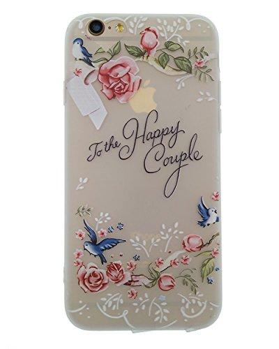 iPhone 6 Plus / 6S Plus Hülle, BENKER Hohe Qualität Kreativ Anti-Kratz Nicht Verblassen TPU Silikon Matte Telefon Fall - Blumen Blumen