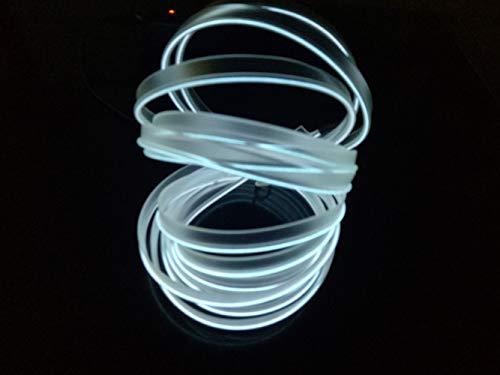 2 m Cavo neon USB EL per interni auto bici Cosplay Festival Decorazione LED incandescente filo elettroluminescente luci fredde con unit/à lampada lampada incandescenza stringa striscia 5 V Ice Blue