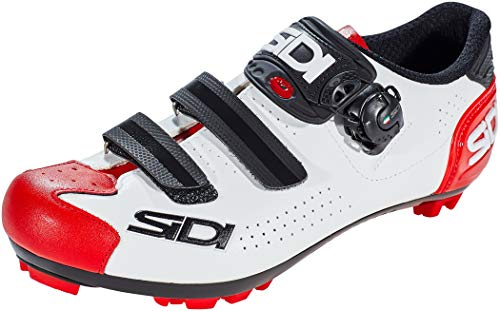 Sidi MTB Trace 2 Schuhe Herren White/Black/red Schuhgröße EU 46 2020 Rad-Schuhe Radsport-Schuhe