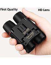paryavaran Polarized HD Professional Lightweight Pocket Size Binocular Telescope Folding 30x60 Zoom Lens for Sports, Hunting, Camping for Bird Watching(Black)