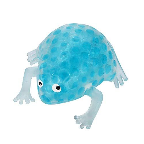 Wokee Squeeze Perle Stress Spielzeug,8cm Squeeze Frogs Frösche Quetschen Anti Stress Relief Decompression Bubble Ball (Minzgrün)