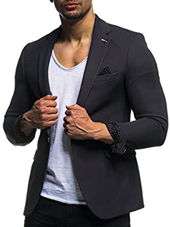 leif nelson herren sakko blazer sportlich slim fit modern. Black Bedroom Furniture Sets. Home Design Ideas