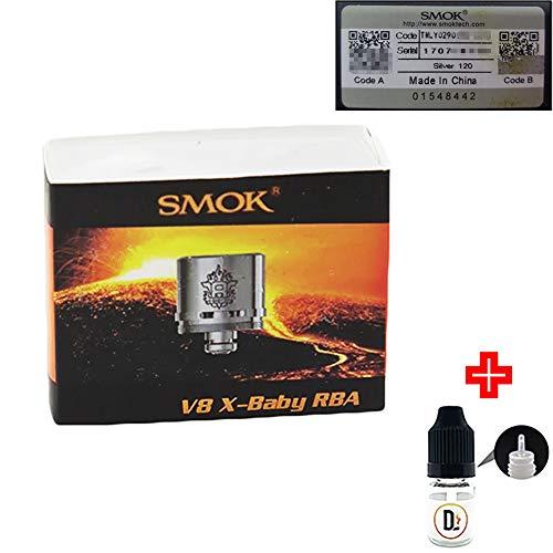 [✅100% ORIGINALPRODUKT✅] 1er Pack Verdampferköpfe SMOK TFV8 X-Baby RBA 0.35 ohm coils + 1 FREI eliquid Leere Flasche 5ml DansLesVapes [OHNE NIKOTIN, OHNE Tabak] (TFV8-XB-RBA-035)