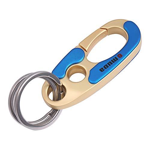 Otfi Multifunktional Mode Auto Schlüsselanhänger Männer Frau Edelstahl Metall Schlüsselanhänger Ring Kreatives Keychain Ring - Silber Keychain schlüsselbund Keychains