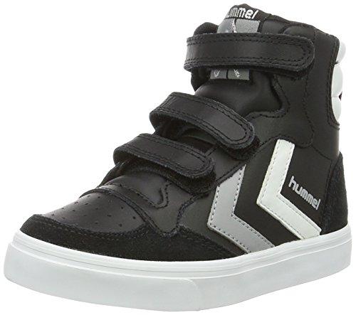 Hummel Unisex-Kinder Stadil JR Leather High-Top Schwarz (Black) 32 EU