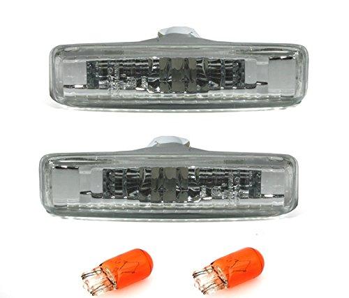 Moderne Cabrio-3 Licht (AD Tuning GmbH & Co. KG 960049 Seitenblinker Set, Klarglas Silber)