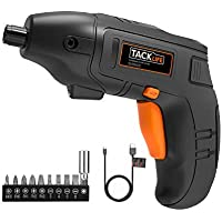 Blake friday TACKLIFE Cordless Drill Set with Hammer Action,two 2000mAh Li-Ion Batteries,13mm Chuck Max Torque 35N.m,2 Speed Drill Driver 1 Hr Fast Charger,43pcs Accessories and Compact Case Included,PCD04B