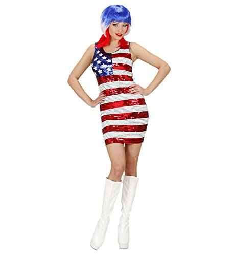 Widmann 94621 - Miss USA-Paillettenkleid für Damen, Größe ()