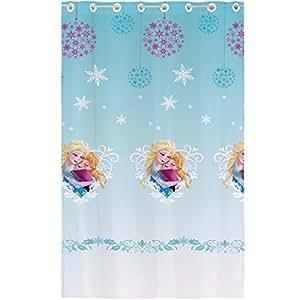 CTI 042955 Frozen Winter Voilage Polyester Bleu 140 x 240 cm