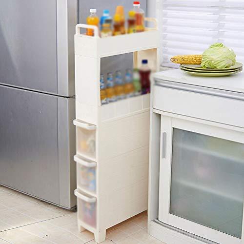 Kitchen furniture - Support de maison pour tablette de rangement en plastique multicouche pour réfrigérateur, blanc WXP