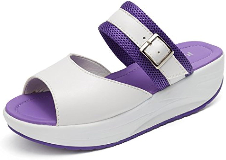 Slippers Sport Purple Fashion Women Toe Wedges Mookey Sandal Slope P84RwY8q