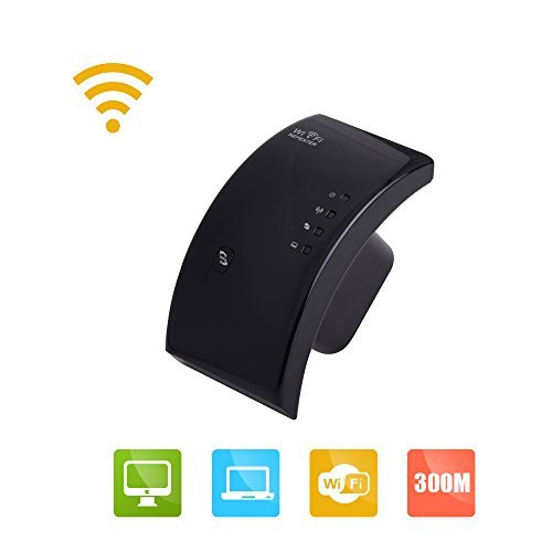 Wavlink 300Mbps Wireless Range Extender / Access Point EEE802.11N Technology 2.4GHz Ethernet Network Wifi Repeater / Signal Booster- 3dBi Internal Antennas WPS Protection US Wall Plug- Black  available at amazon for Rs.3149
