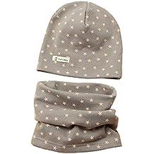 Boomly Autunno e Inverno Carino Morbida Caldo Set di Cappello Sciarpa  Berretto in Cotone Scaldacollo Sciarpa a5f55f332938